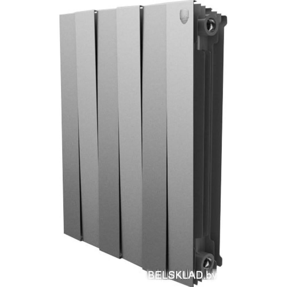 Биметаллический радиатор Royal Thermo PianoForte 500 Silver Satin (8 секций)