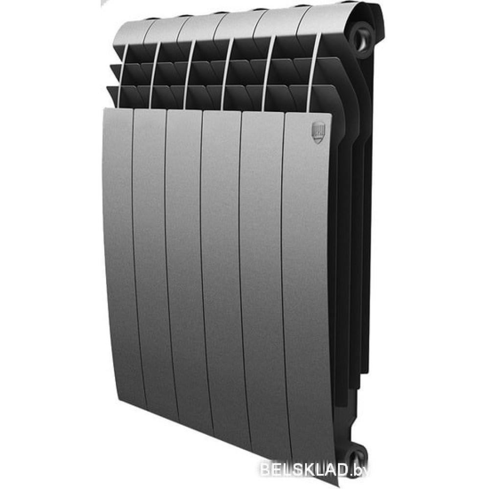 Биметаллический радиатор Royal Thermo BiLiner 500 Silver Satin (10 секций)