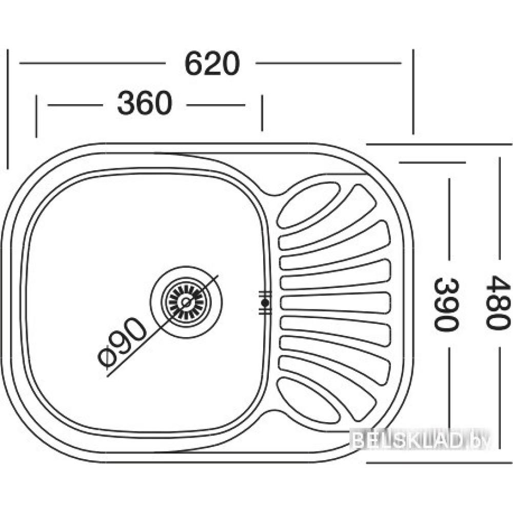 Кухонная мойка Kromevye Bianсa EC 305 D