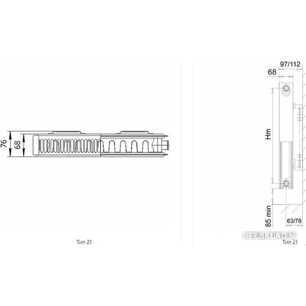 Стальной панельный радиатор Лемакс Compact 21 500x600